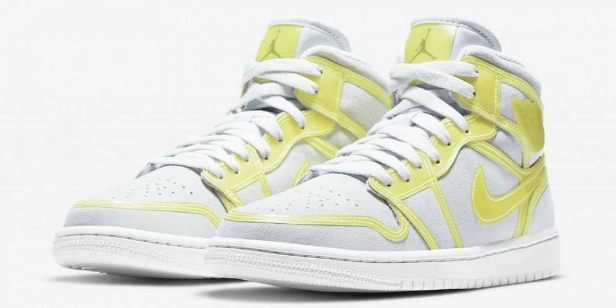 "DA5552-107 Air Jordan 1 Mid LX ""Opti Yellow"" will release Officially next Friday"