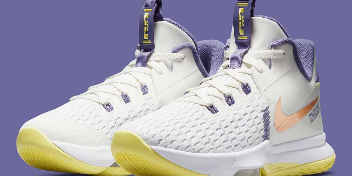 """Nike LeBron Witness 5 """"Pastel Lakers"""" 2021 New Arrival CQ9381-102"""